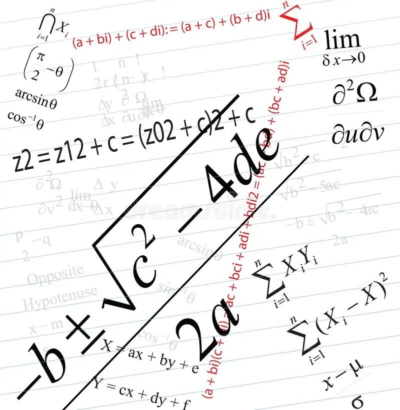 Mathematics stock illustration. Illustration of blackboard