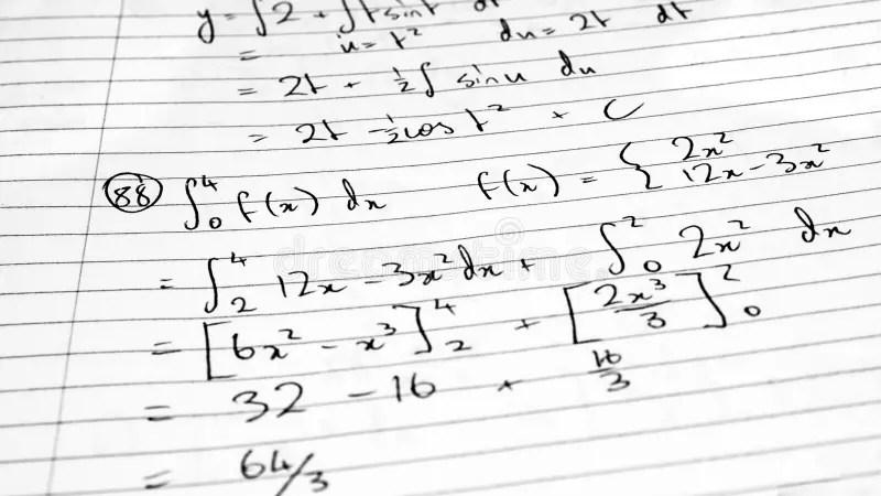 Mathematics formula stock photo. Image of numbers