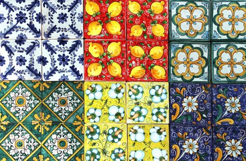 Mattonelle Tradizionali Dalla Sicilia Fotografia Stock  Immagine di generale ceramic 41299898