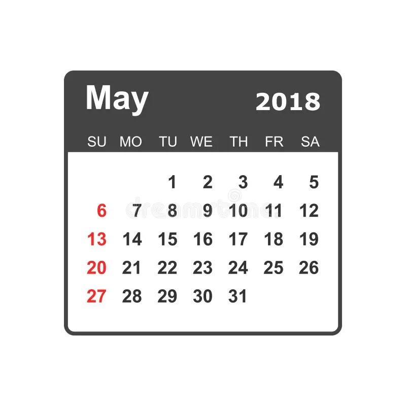 June 2018 Calendar. Calendar Planner Design Template. Week