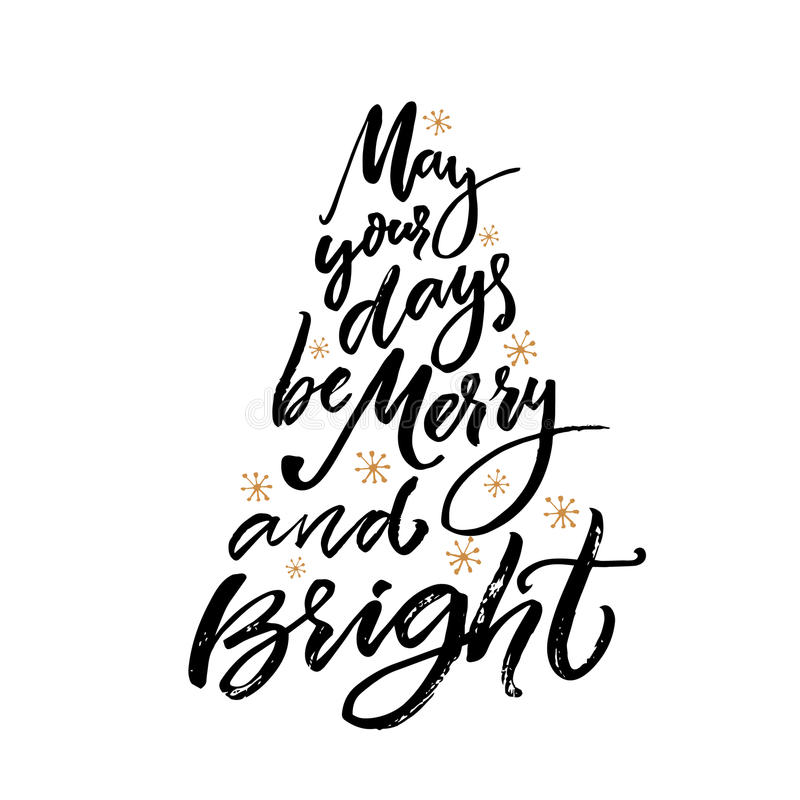 May Your Days Be Merry And Bright Christmas Greeting Card