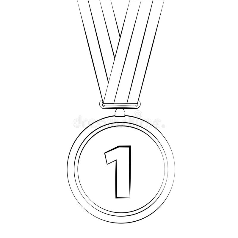 Medal stock vector. Illustration of best, sign, isolated