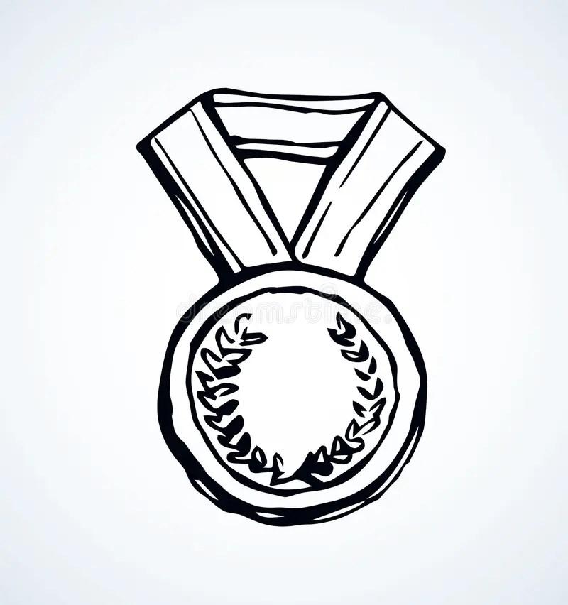 Medal. Vector drawing stock vector. Illustration of