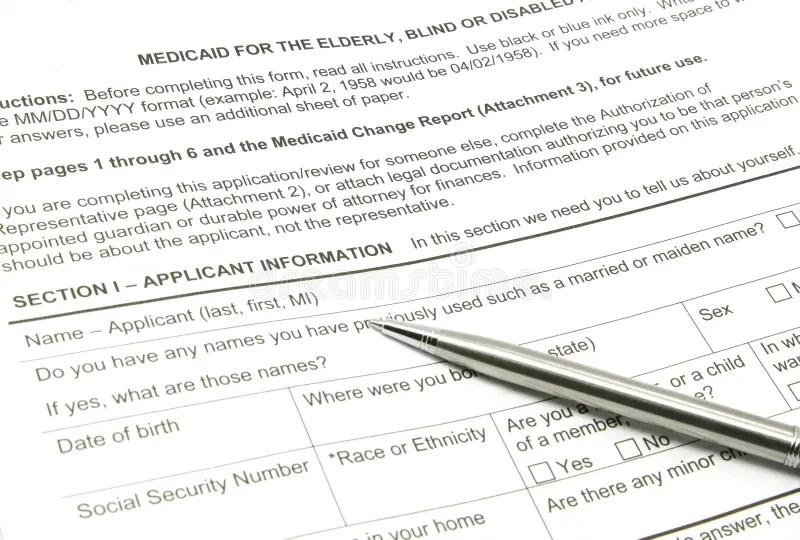 Blank USA Medicaid Card stock photo. Image of ideas, card