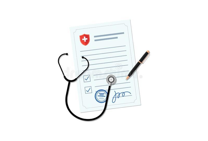 Medical prescription stock illustration. Illustration of