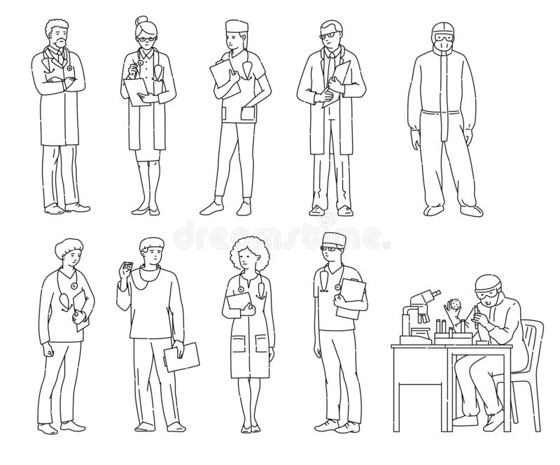 Essential Workers Stock Illustrations