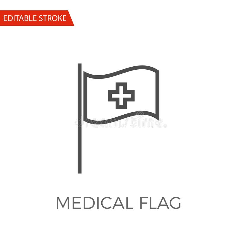 Medical Flag Vector Icon stock vector. Illustration of
