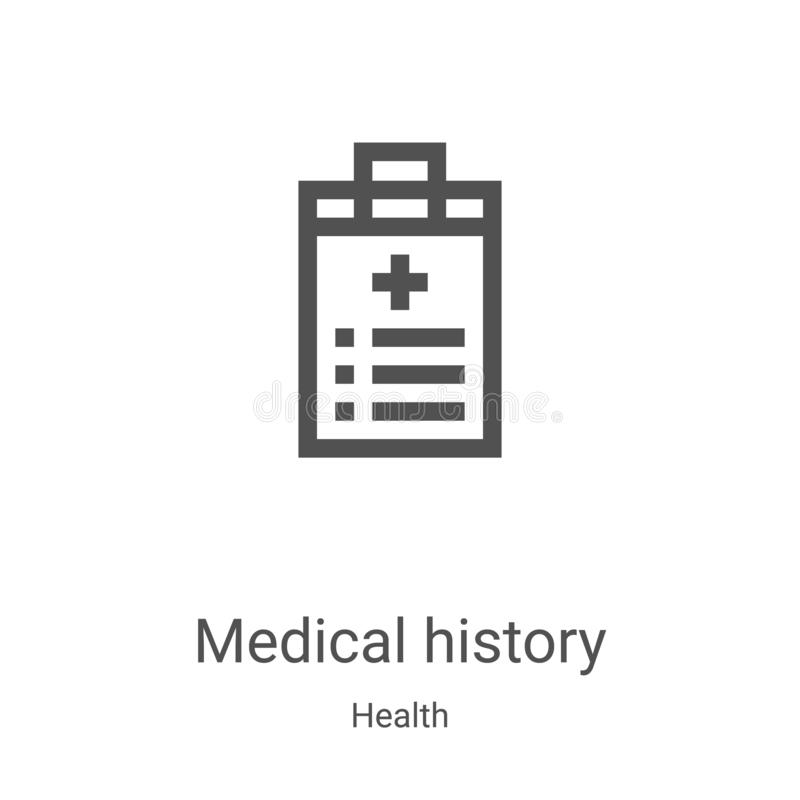 Health Icon Vector From Bioengineering Collection. Thin