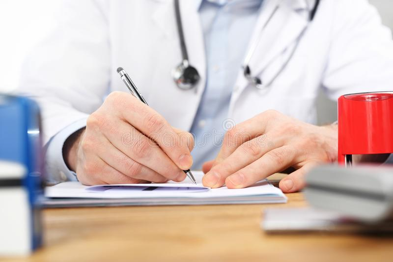 Prescription For Medicines A Patient At The Doctor`s ...
