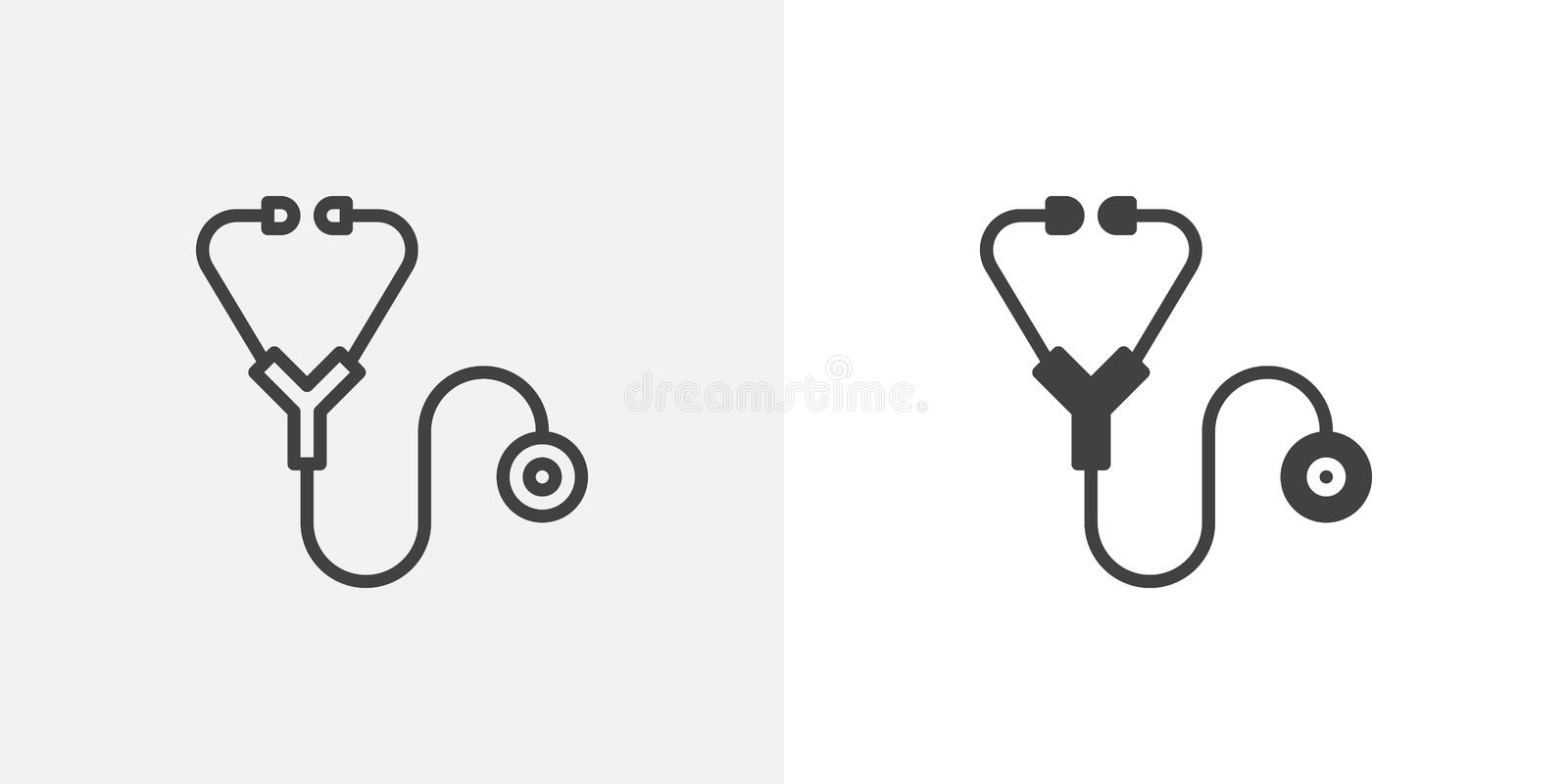 Line Icons Medical Device Icon Set Stock Vector