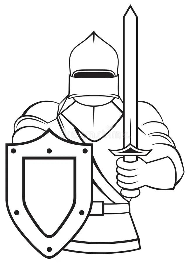 Medieval knight stock vector. Illustration of ancient