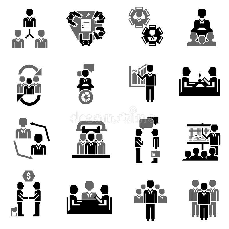 Meeting Icon Black stock vector. Illustration of people