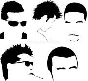 men haircut vector collection stock