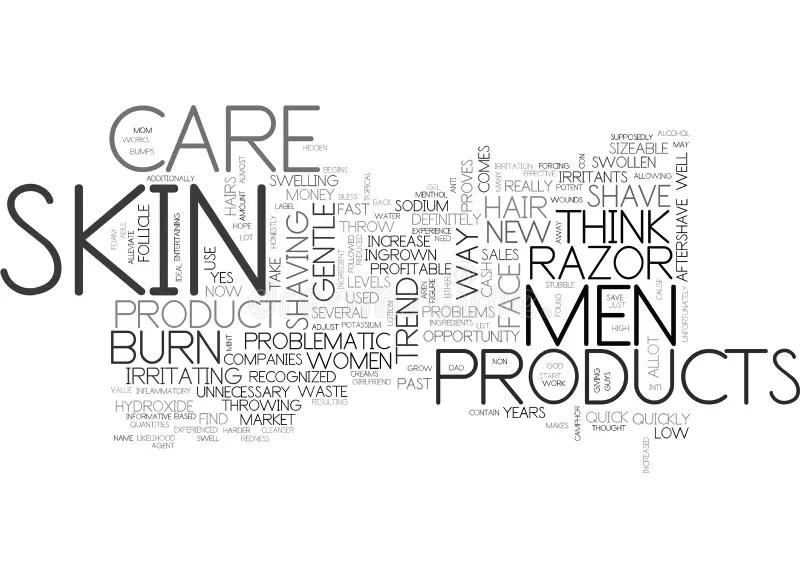 Men's Skin Care Word Cloud. Stock Illustration
