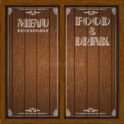 Menu wood board design stock vector Illustration of background 106400173