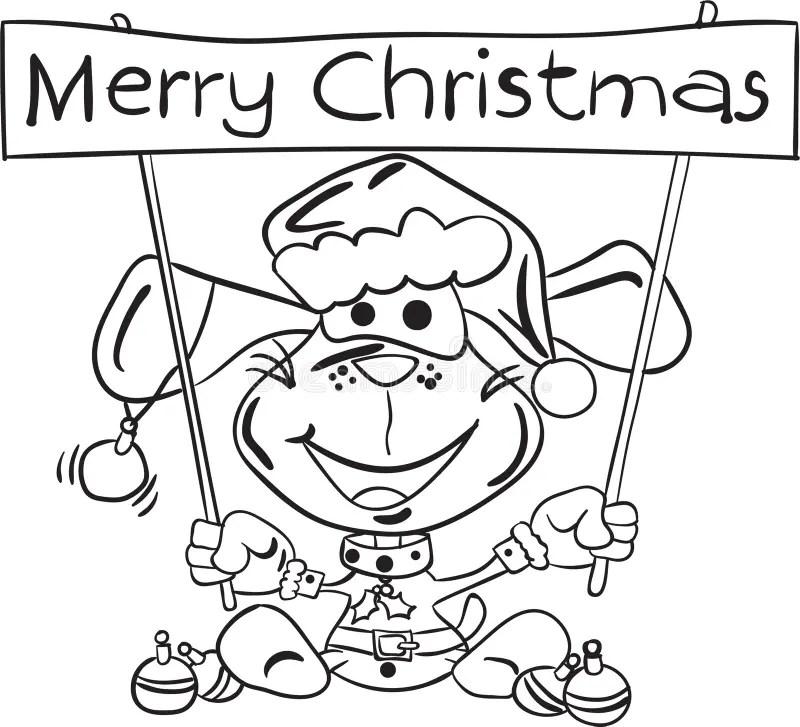 Santa Claus Coloring Page Christmas Edition Stock Vector