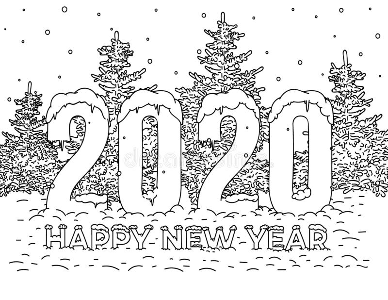 Happy New Year Book Stock Illustrations
