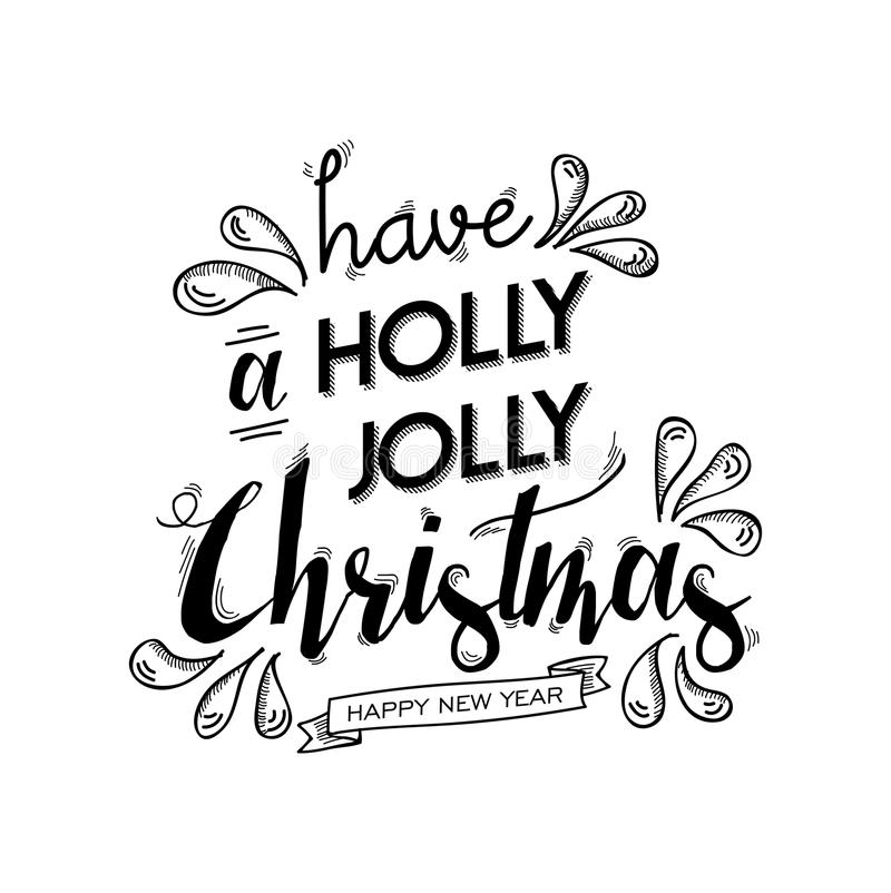 Merry Christmas Quote Vector Text For Design Greeting