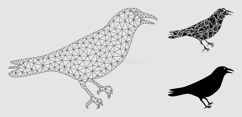 Crow Polygon Vector stock vector. Illustration of animal