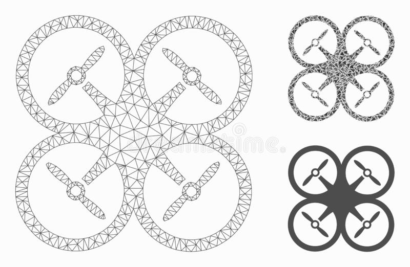Quadcopter Vector Mesh Network Model And Triangle Mosaic