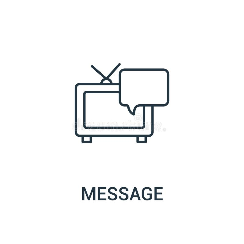 Message Icon Vector From Influencer Collection. Thin Line