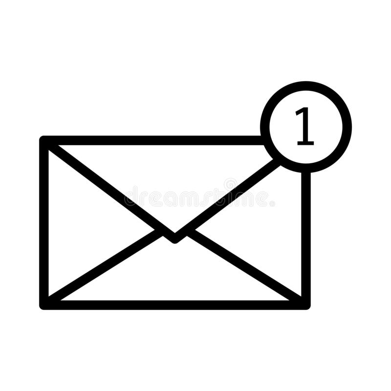E Mail Notification One New Email Message Inbox Concept