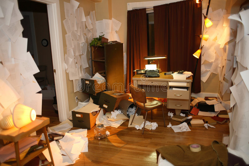 Messy Apartment Stock Image Image Of Ransack Paper Lamp