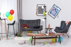messy living interior chaos