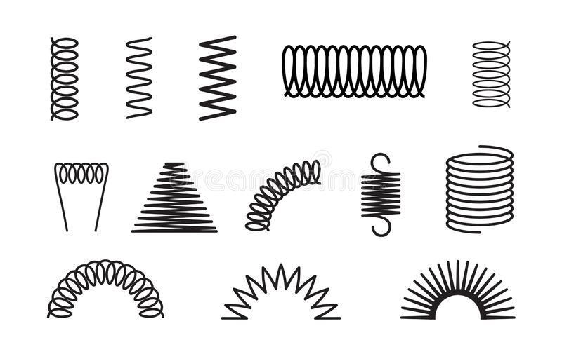 Coil of wire stock illustration. Illustration of isolated
