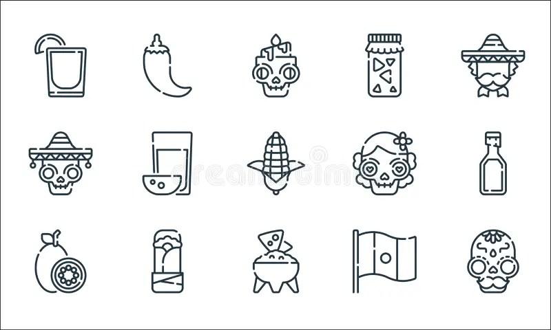 Burrito Icons Stock Illustrations