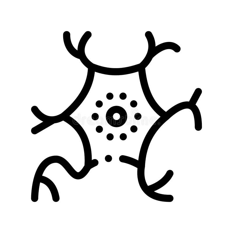 Virus and bacterium stock illustration. Illustration of