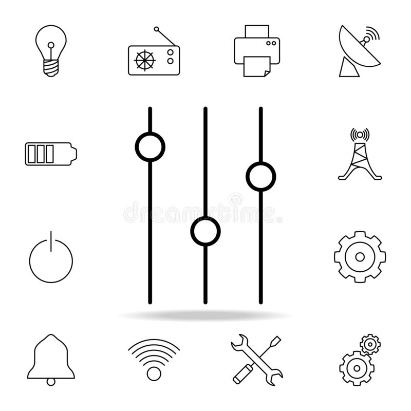 Icons Switches, Electrical Symbols Stock Vector