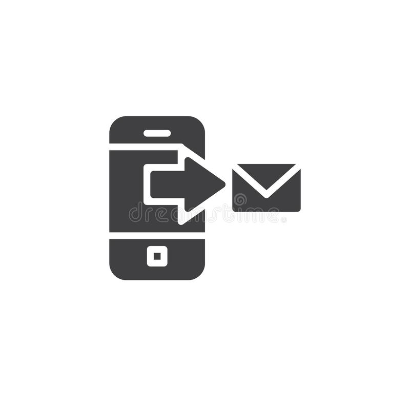 Sms Glyph Icon, Web And Mobile, Message Sign Stock Vector