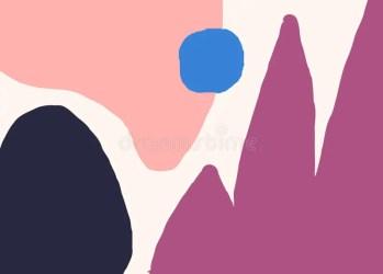 Pastel Colors Abstract Shapes Modern Minimalist Wallpaper Design Stock Vector Illustration of postcard green: 146031131