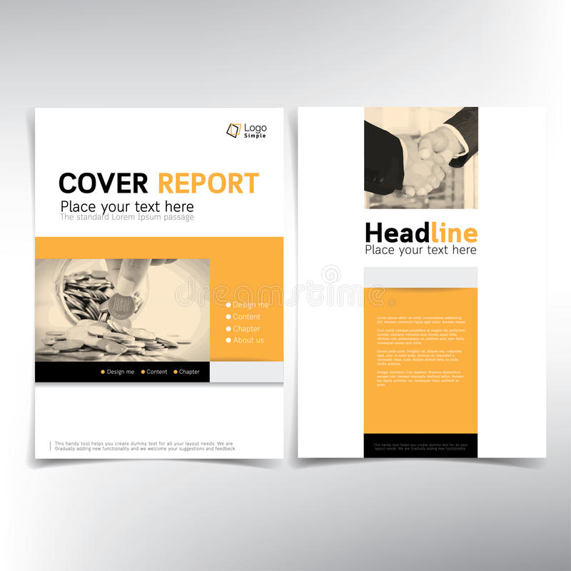 Modern Business And Financial Cover Page Vector Template Stock