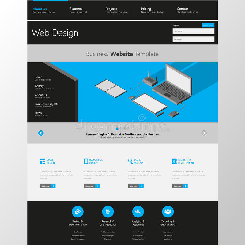 Modern Clean One Page Website Design Template All In One Set For Website Design That Includes