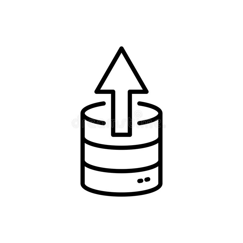 Database Icon Or Logo In Modern Line Style Stock Vector