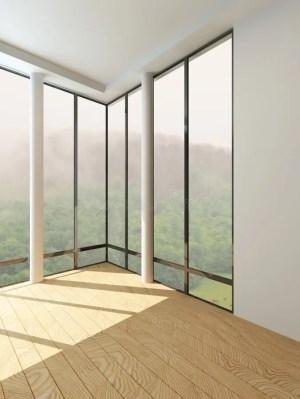 empty modern window ceiling floor architecture