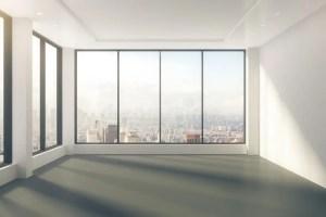 empty floor windows vuota stanza lege ruimte raum leerer moderner stadtansicht close open vloer concrete inside interno leere building abstracte