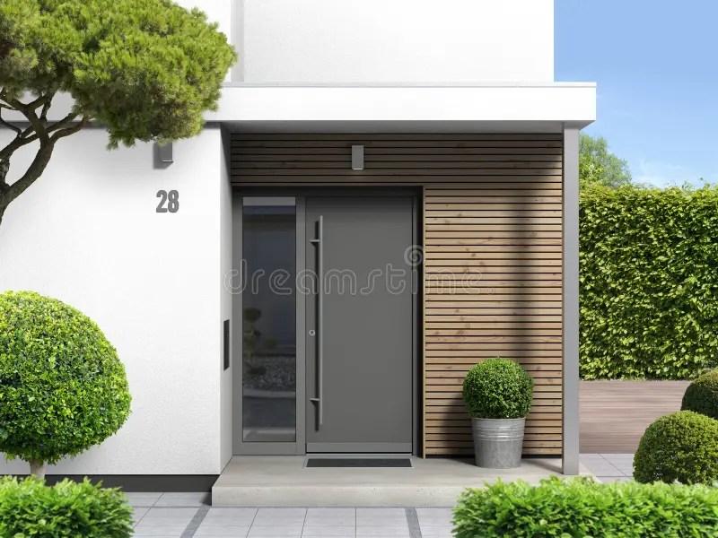 door front patio stock illustrations