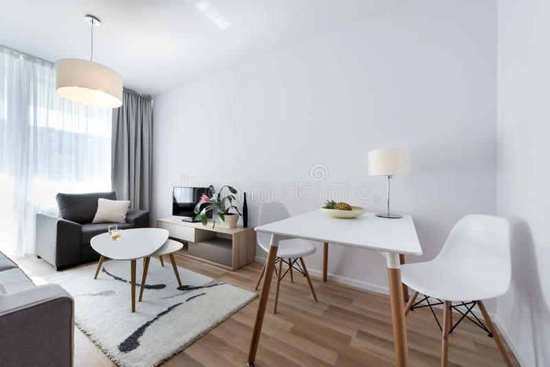 Modern Interior Design Room In Scandinavian Style Stock