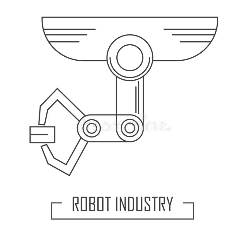Modern Robotic Surgery Flat Vector Illustration. Young