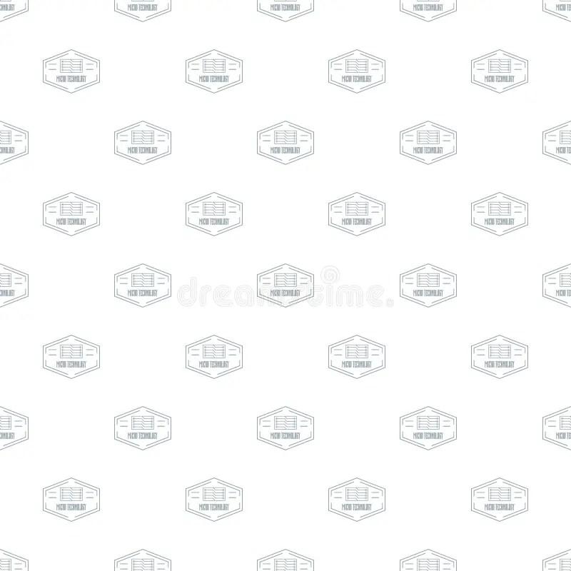 Modern Micro Technology Logo, Simple Gray Style Stock