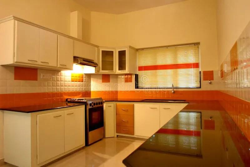 modern modular kitchen stock