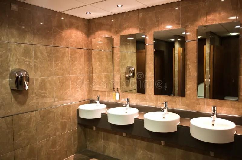 Modern Public Toilet Stock Photo  Image 46352956