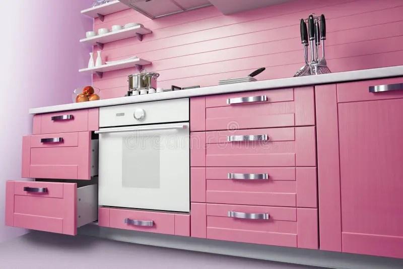Rosa Küche   Effektvolle Küchengestaltung Mit Farbe ...