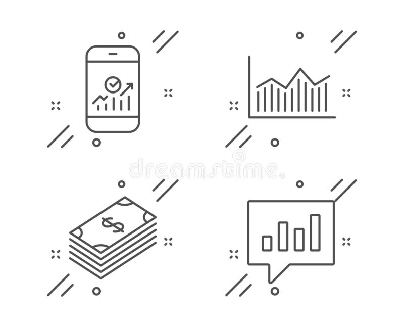 Money Diagram, Check Article And Shield Icons. Face