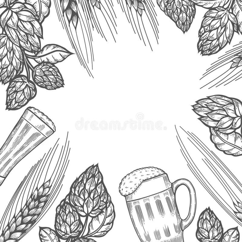Engraved beer glasses stock vector. Illustration of