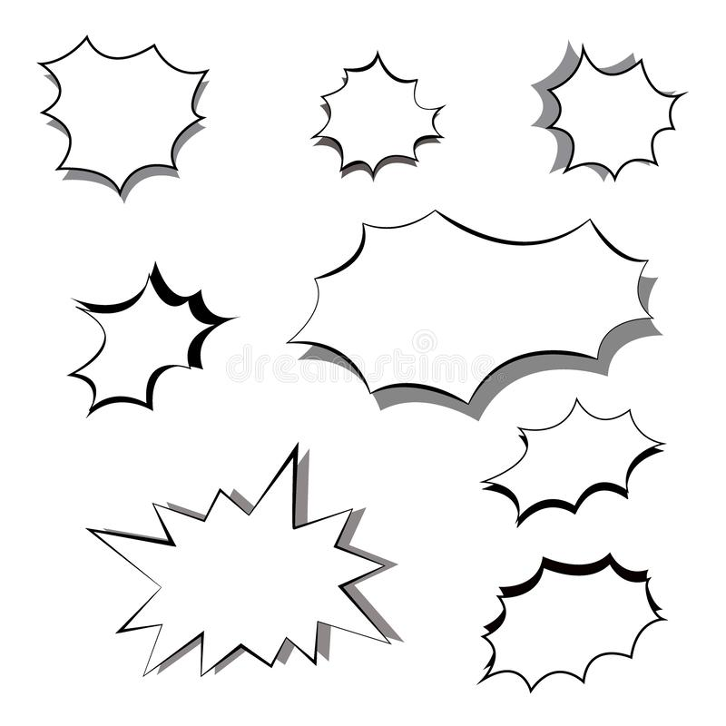 Communication Line Vector Icons For Business Card Stock
