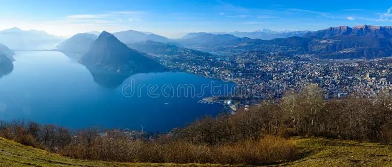 Monte Bre. vicino a Lugano fotografia stock. Immagine di switzerland - 65769950